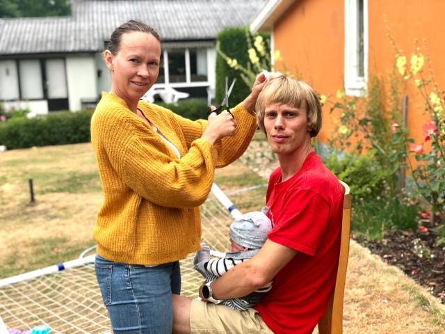Ungefär så här kan det se ut när Ida klipper mig.
