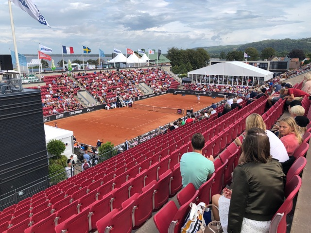 Centre courten i Båstad vid Swedish Open Ladies