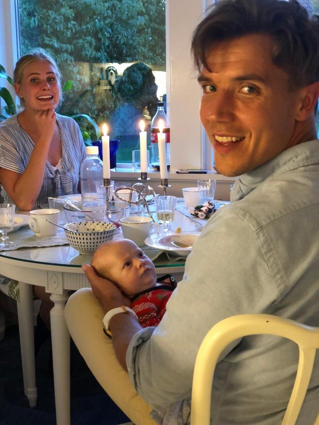 Stig fick träffa Anders när vi var hos Rickard och Marika i Torekov förra veckan