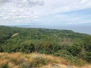 Stenshuvud högsta punkten. Utsikt över havet.