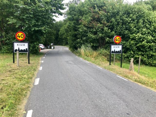 Det är ca 6 km platt asfalt på Skåneleden mellan Stenshuvud nationalpark och Vitemölla