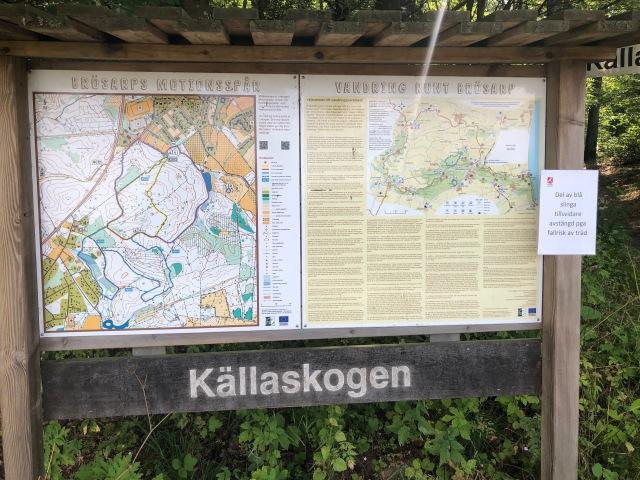 Källaskogen i Brösarp - karta