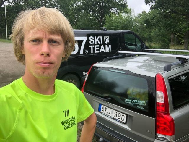 Redo för intervaller i Liared med Marcus Johansson i Lager 157 Ski Team