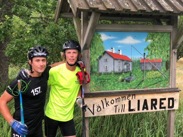 Marcus Johansson och jag i Liaredsbacken