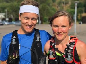 Adam Ekstedt och Fia Jobs är skånska skidåkare som bor i Mora