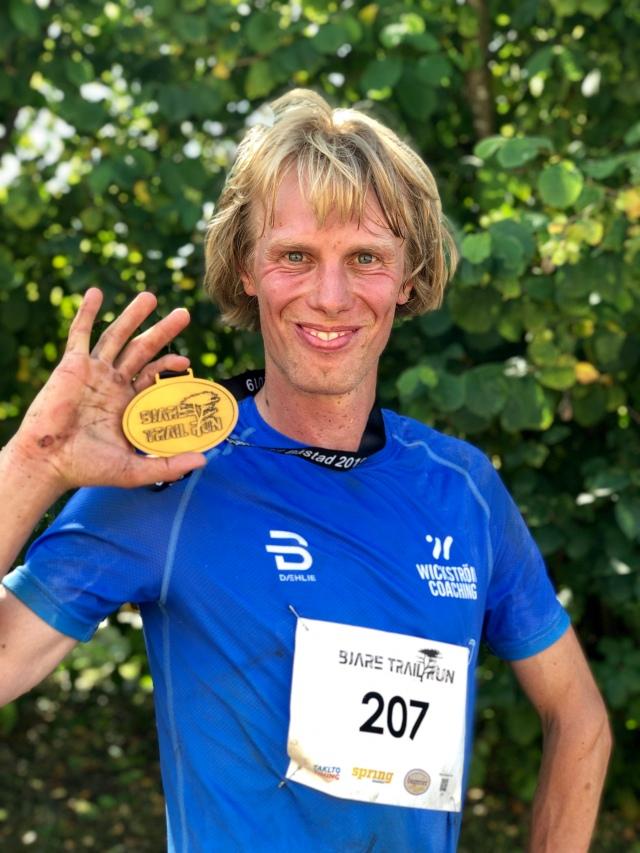 Bjäre Trail Run 51 km 2019. Så såg medaljen ut.