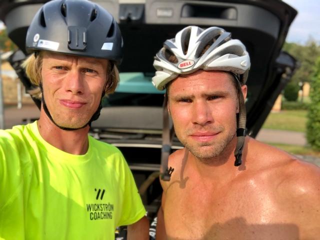 Robert Malmgren och jag efter avslutat pass på Hallandsåsen