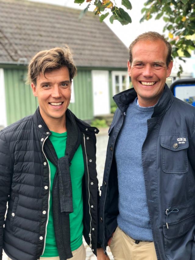 Rickard Bergengren och Magnus Sjöbjer. Stiliga herrar som jag nyligen träffade i Torekov, som ligger ca 2 mil från Vejbystrand.