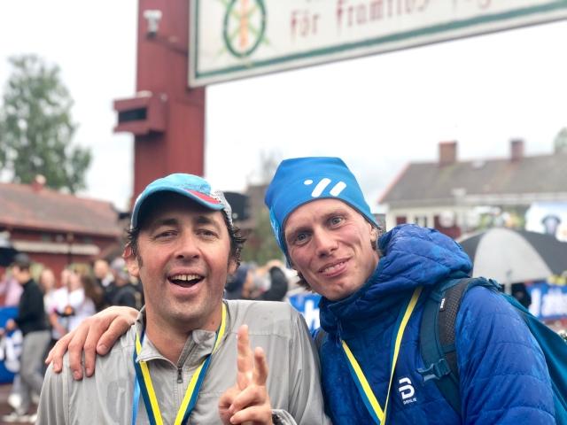 Niklas Bergh och jag efter Ultravasan 2019