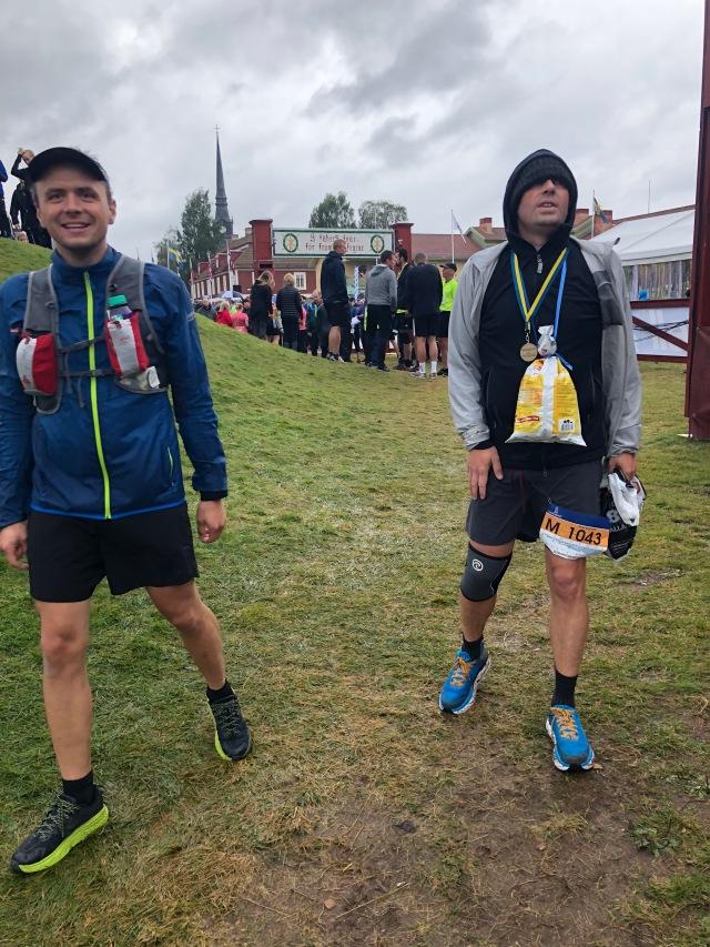 Erik Westberg sprang en sträcka med Niklas Bergh i Ultravasan