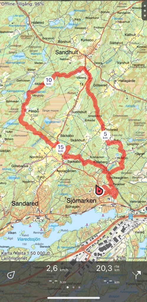 Det blev en rundan på bl a Sjömarkens, Sandhults och Nordtorps spår