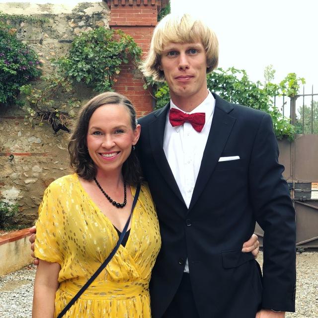 Ida och jag inför Faustine och Seths bröllop i Frankrike