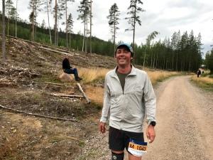 Niklas Bergh i Ultravasan 2019. Pappa Totte Bergh i bakgrunden.
