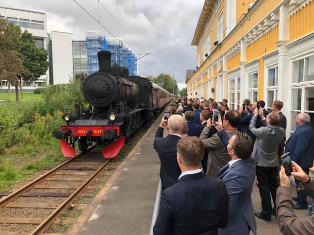 Ånglok bid Borås Öfwre, där Hydria Group håller till.