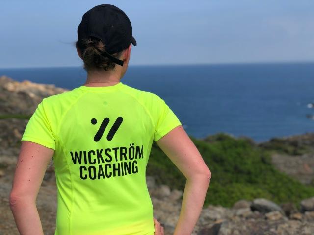 """Wickström Coaching-tröjan som vi kallar för """"rullskida-t-shirt"""" för att den syns bra i trafiken."""