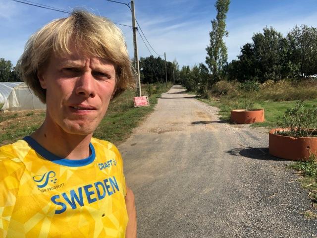 Löpning i Sverigekläder