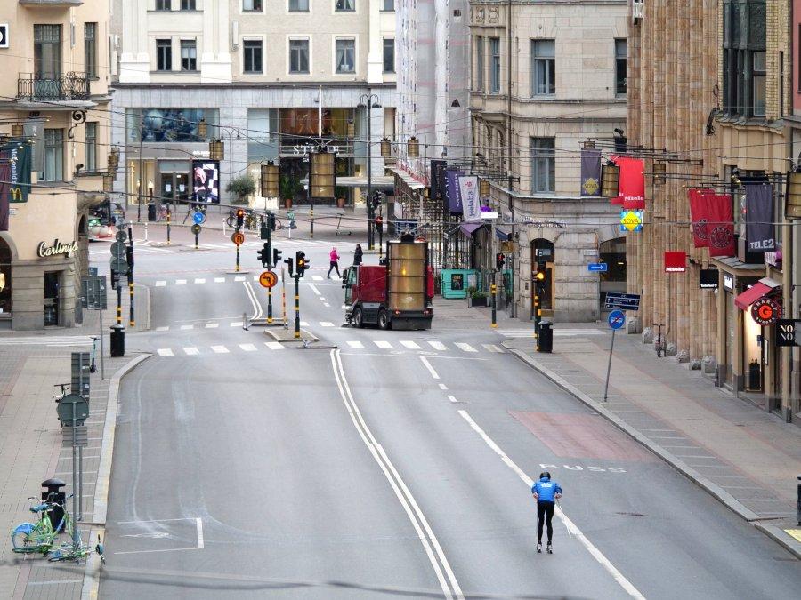 Rullskidåkning i Stockholm på Kungsgatan