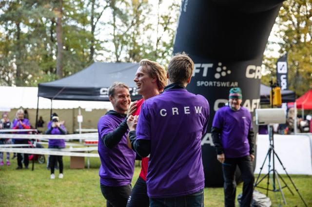 Linus Wirén och Mattias Carlsson tar emot i målet