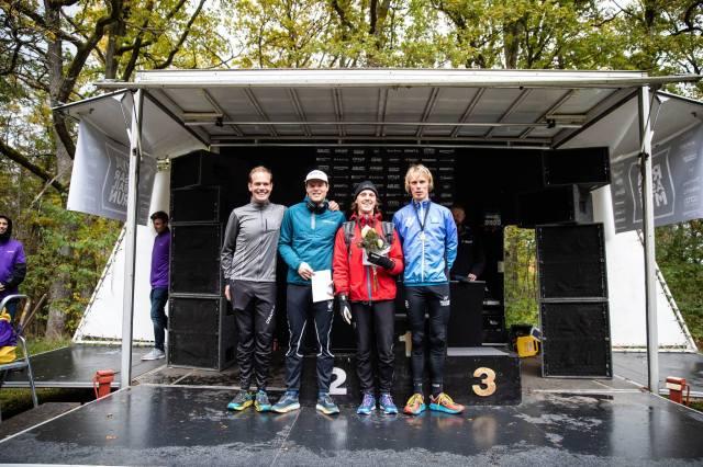 """Lag """"Bro till topp"""" vann lagtävlingen i Rya Åsar Trail Run 2019. 1500 kr på restaurangen Grill och gryta."""