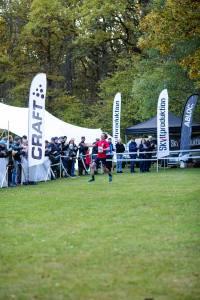 Erik Wickström vinner Rya Åsar Trail Run 2019. Foto: Masaya.