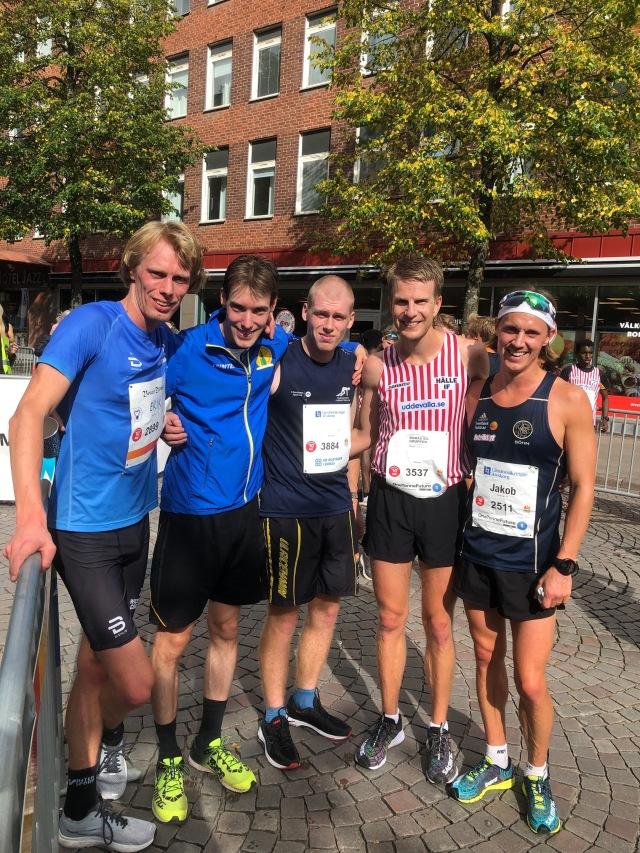 Bl a Linus Nygren, Anders Grahl och Jakob Böhm efter Kretsloppet 2019
