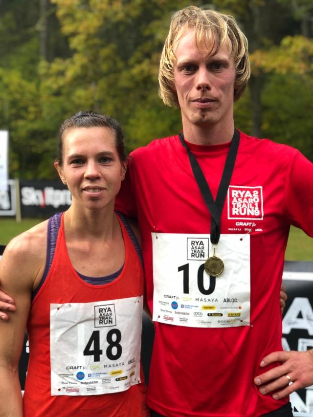 Karin Nilsson vann Rya Åsar Trail Run och är även en duktig skidåkare