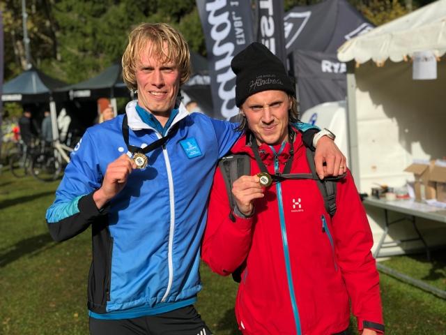 Jakob Böhm och jag efter Rya Åsar Trail Run 2019