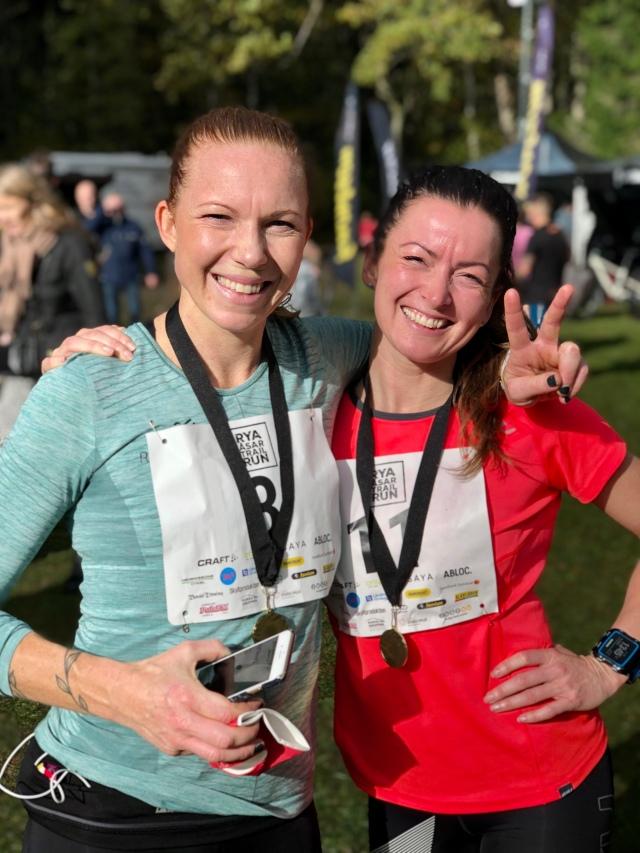 Lisa Nelson och Terese Østeraas. Det är många tjejer i Borås som är ganska seriösa med sin löpning nu. Superkul!