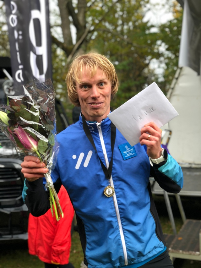 Rya Åsar Trail Run 2019. Glad pajk efteråt.