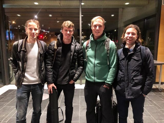 Daniel Svensson, Johan Högstrand, Mikael Mattsson och Dan Kuyelenstierna. Ingen dålig laguppställning. Johan och Dan från Skisens, som jobbar med effektmätare i stavar.