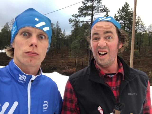 Niklas Bergh och jag på Idre Fjäll