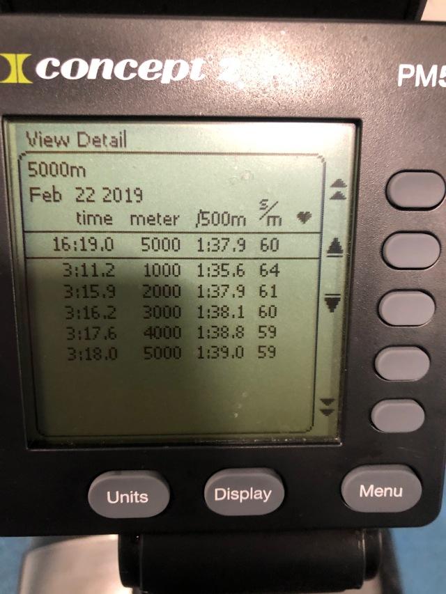 5000 m SkiErg av Kalle Westberg