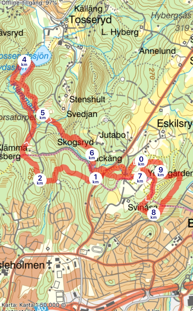 Karta Tjurruset Borås 2019