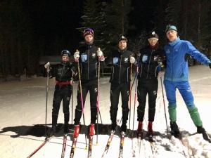 Simon Grenlöv, Oscar Bergenholtz, Benjamin och jag. Längst till vänster en av Äspereds IF riktigt talangfulla ungdomar.