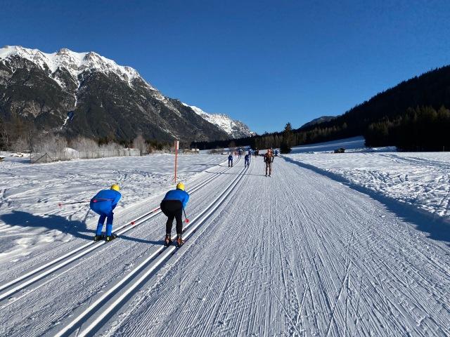 Moos i Leutasch-dalen var ett ställe många testade skidor dagen före Kaiser Maximilian Lauf