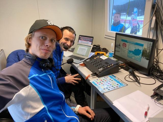 Expertkommentator för Visma Ski Classics-loppet Kaiser Maximilian Lauf med Teemu Virtanen som kommentator