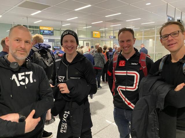 """Hängde med Stefan Palm, Anton Järnberg, Johan Kanto och Mattias """"Z"""" Carlzon en del på resan."""
