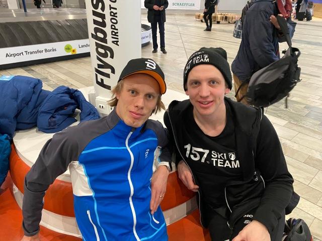 Anton Järnberg kan vara nöjd med att Lager 157 Ski Team leder lagtävlingen samt har ett gäng tröjor. Imponerande jobb. Och kul!