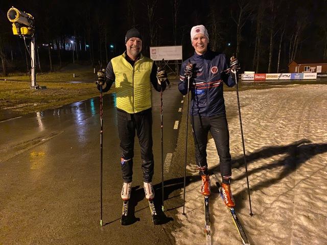 Rullskidåkning och skidåkning på Borås skidstadion