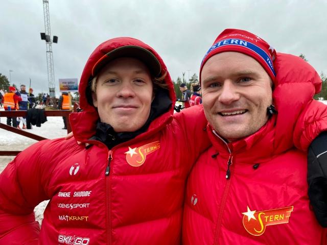 ...med IK Sternarna Samuel Hahnsson och Sebastian Backlund.