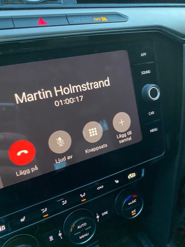 Åkte bil själv t o r till Dalarna i helgen. Det blev en dryg timmes snack med Martin Holmstrand på vägen hem.