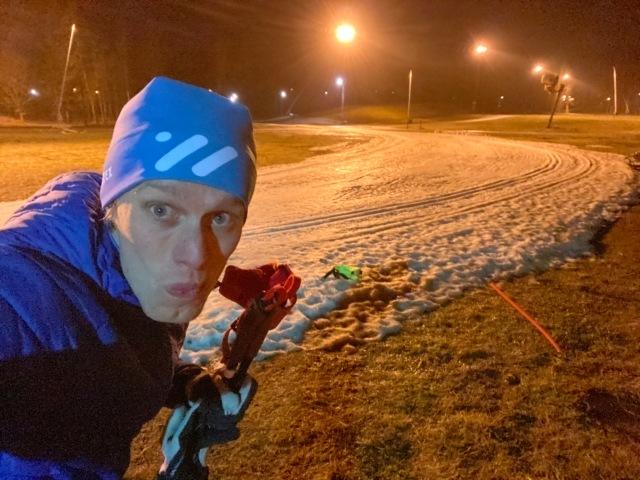 Skidinstruktör på Borås skidstadion