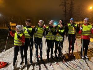 Skidkurs på Borås skidstadion mån 20 jan 2020