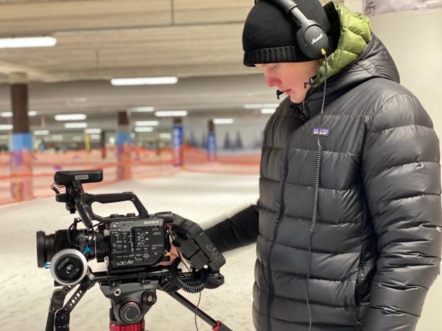 Love Ljungström filmar i Skidome