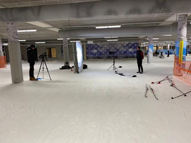 Filmning i Skidome