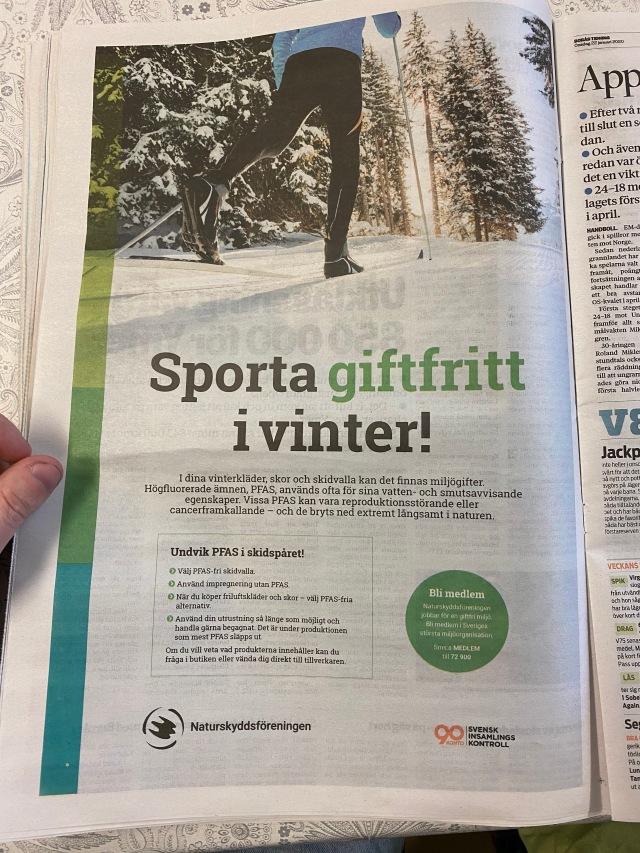 Helsidesannons i Borås Tidning där åkaren kör passgång. Inte första gången man ser likande annonser.