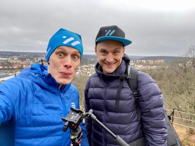Jojje Borssén och jag spelade in lite Wickström Coaching-film på Rya Åsar