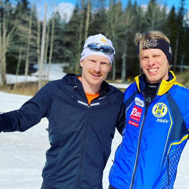 På Borås skidstadion med Martin Damm
