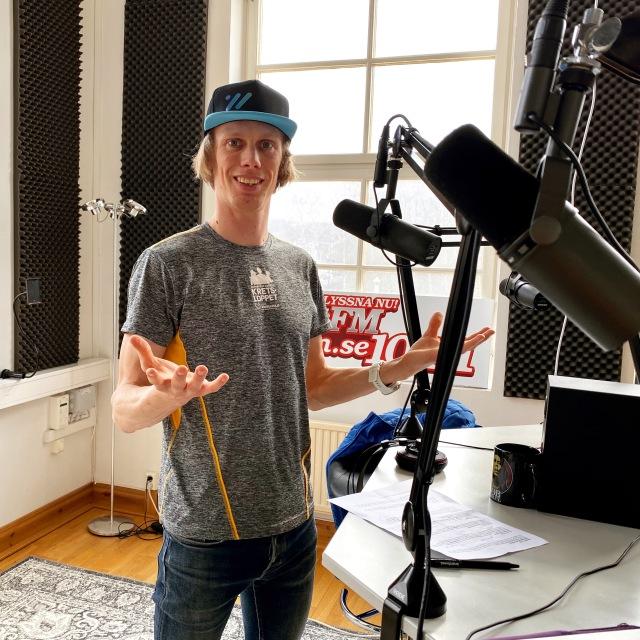 På radio i Borås tidigare i veckan. Puls FM.
