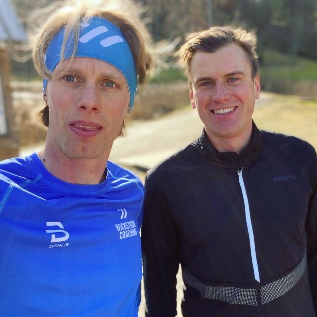 Löpning med Linus Wirén vid Kypegården tidigare i veckan.